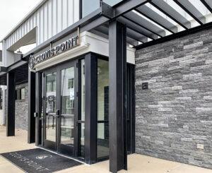 Clovis Point Apartments leasing entrance signage