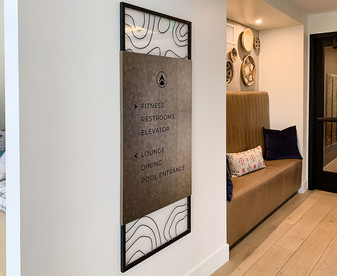 Clovis Point Apartments interior directional