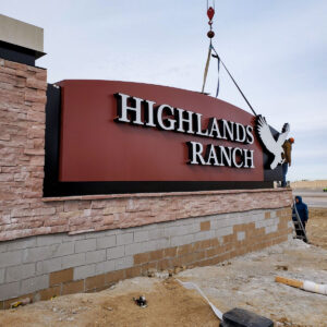 Highlands Ranch Exterior Monument Sign